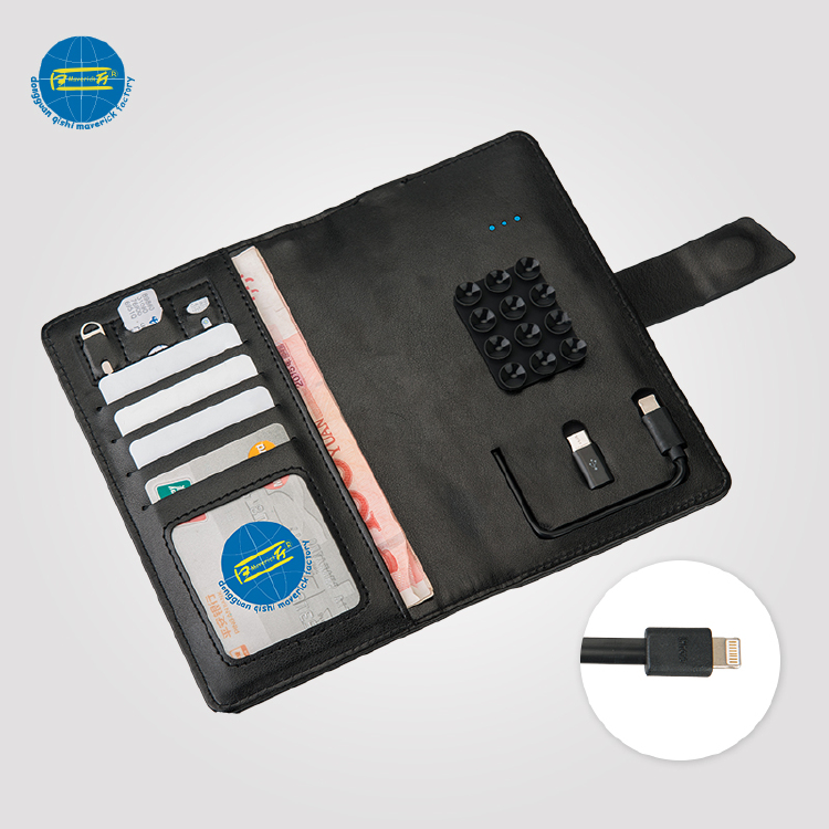Power Bank Wallet / Phone Holder with Card Case