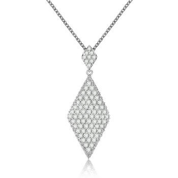 Most elegant Cubic Zirconia pendant by small clear CZ micro-