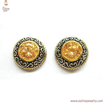 ST1328E - wholesale Indonesia bali pattern stud earring with