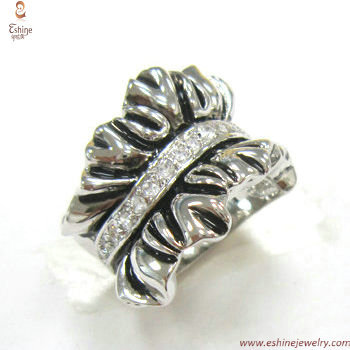 RI3442 - export Antique lotus folded leaves pattern sterling