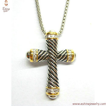 PE2808 - designer style rope/cable pattern jesus pray cross