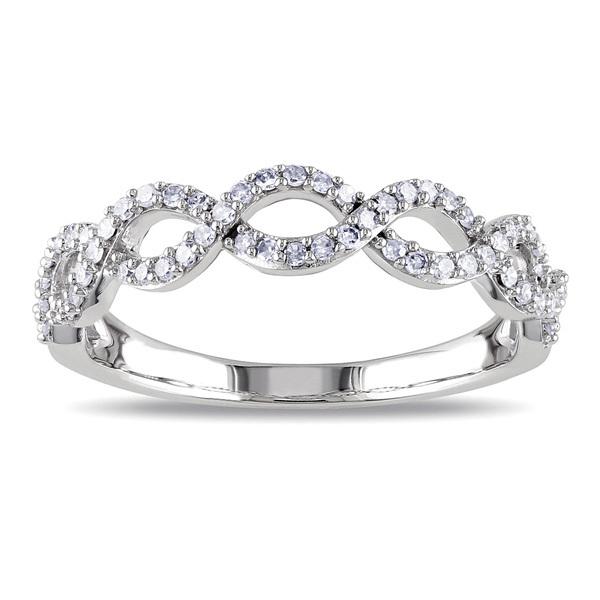 SR0017 - cyclic Infinite love classic diamond engagement rin