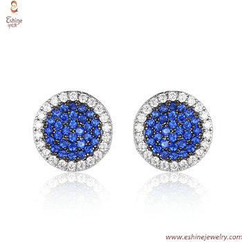 ST2210E - Elegant multi-color style Sapphire stud earring wi