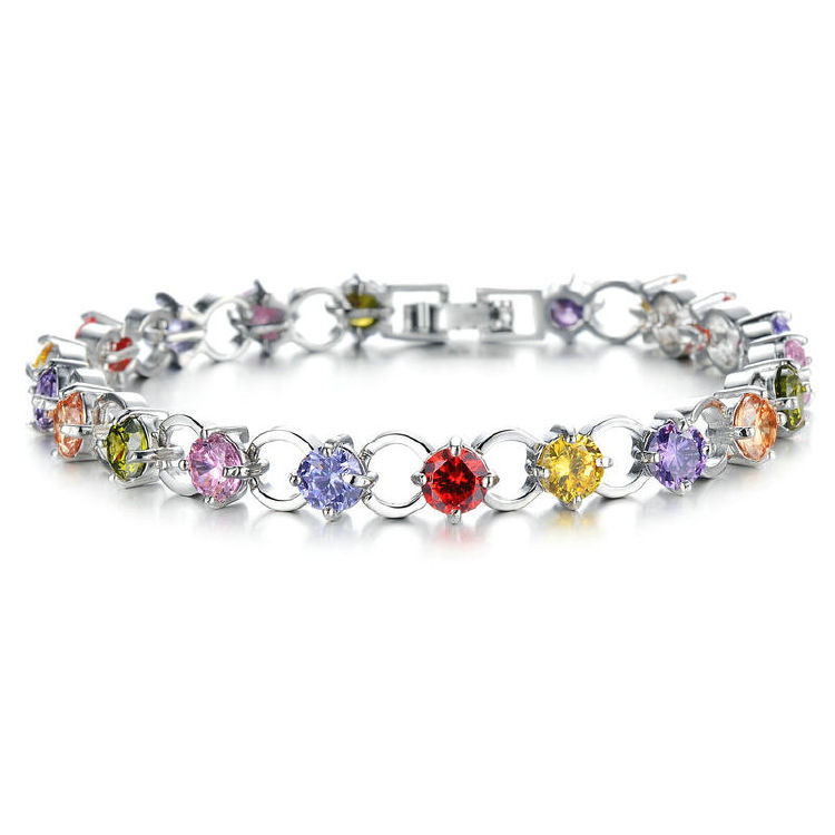 Colorful bracelet collections - MBCZ220 from china jewelry w
