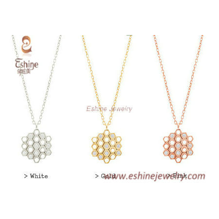 honeycomb pendant - 3 colors available as fashion accessorie