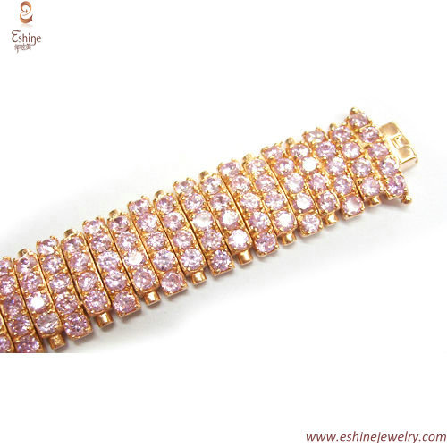 Luxury hiphop bracelet - iced out full of CZ stones & bling