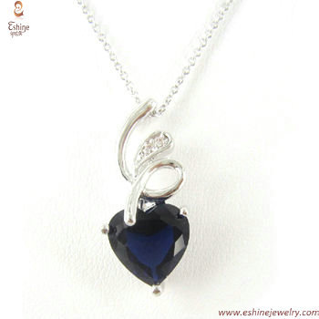 ST1786 - wholesale Sapphire heart jewelry sets as a familiy