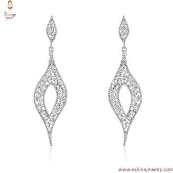 ST2216 - Elegant sterling silver jewlery set with diamond im