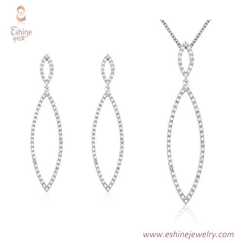 ST2176 - Tiny line style marquise cut micropave clear Cubic
