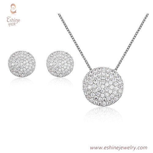 ST2189 - Round shape micropave round cut clear Cubic zircon