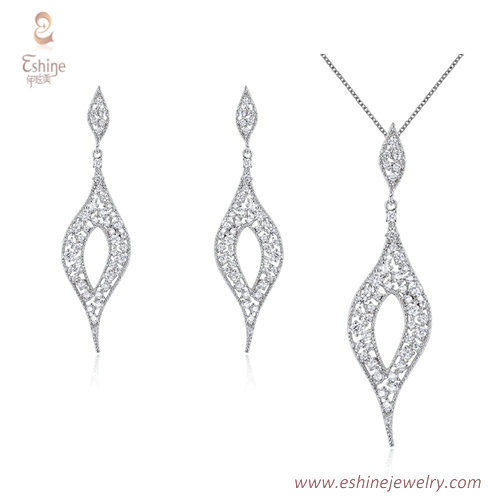 ST2216 -  Simulated clear diamond  Cubic zircon jewelry sets