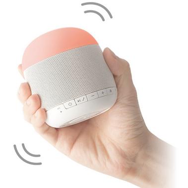 Emoi Portable Mini Bluetooth Speaker Led Multicolor Night Light For Baby Room Bedroom Yoga And Outdoor Led Music Mood Lamp Speaker Vibration Sensitive Speakerphone Nap Timer App Control White Green