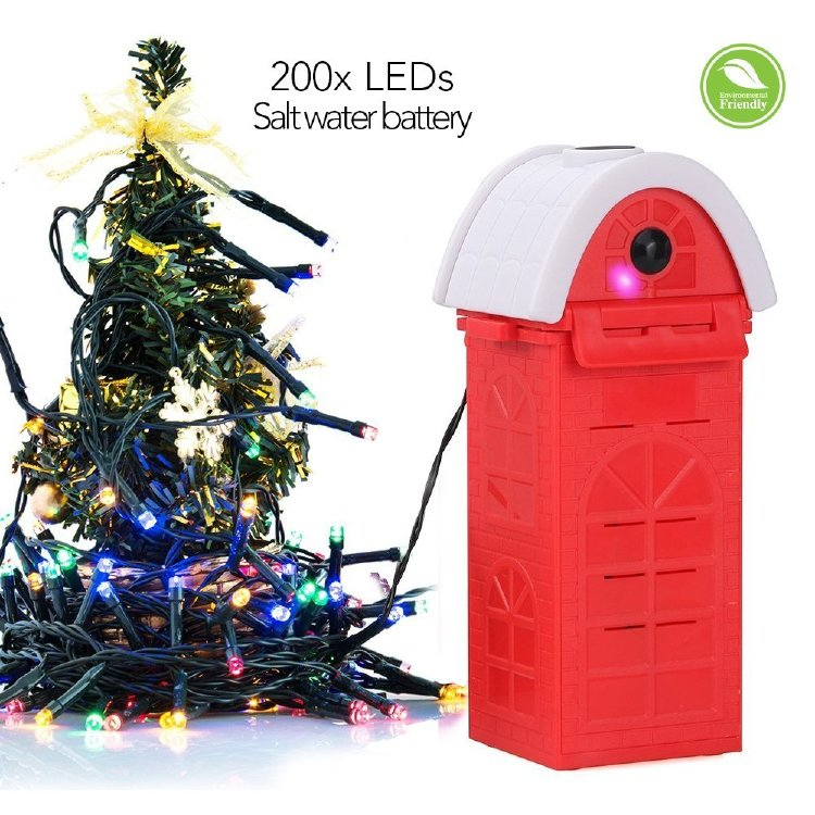 Marsboy 22M Salzwasser-LED-Schnur-Licht, 4 Farben 200 LEDs E