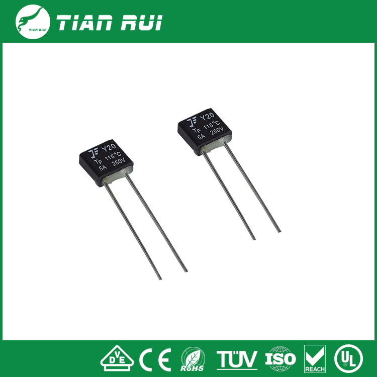 Square type 15A temperature fuse / thermal fuse