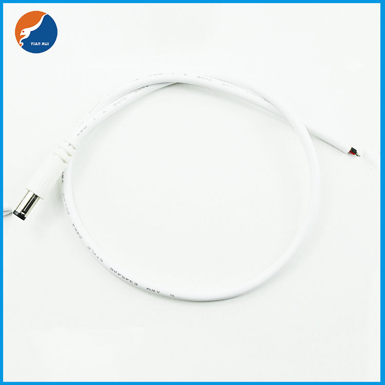 DC black fork extension cable