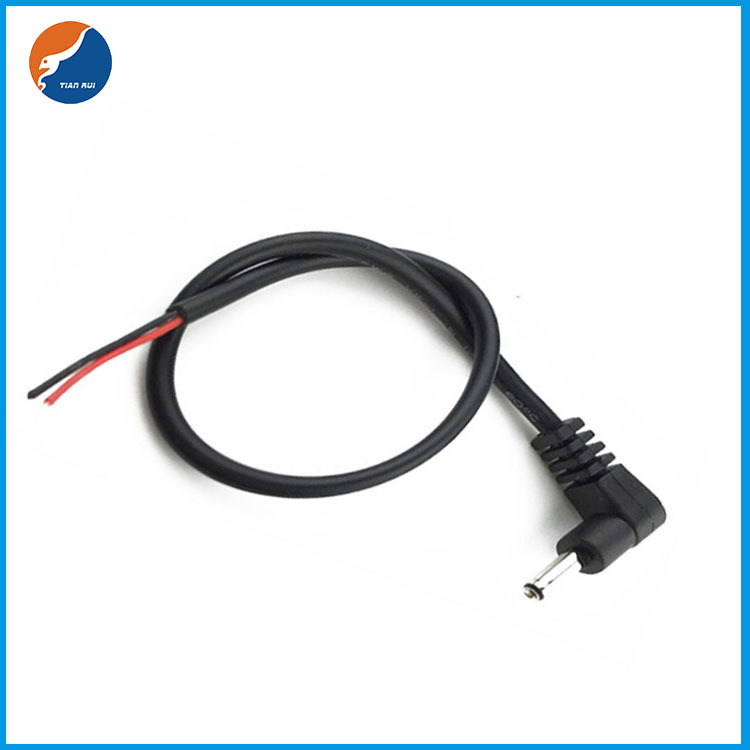 DC quarter bend male power cable