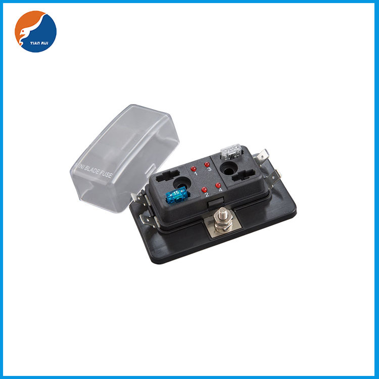 1 in 4 out LED fuse box