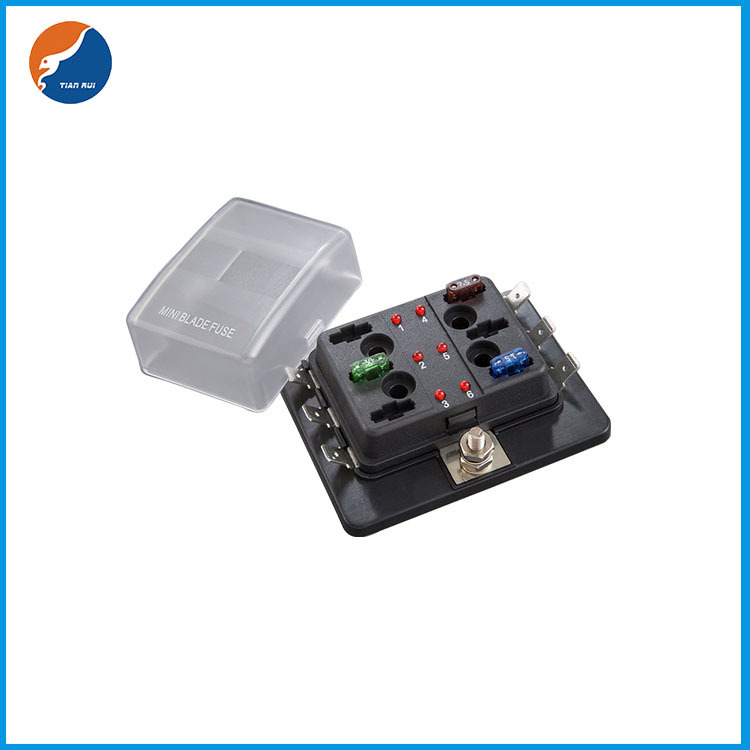 1 in 6 out LED fuse box