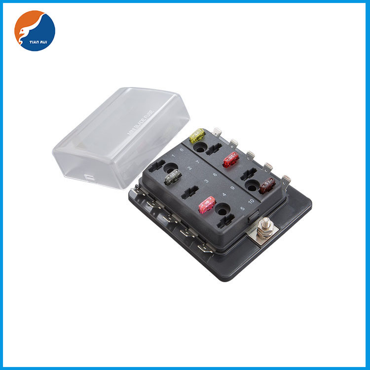 1 in 10 out blade fuse box