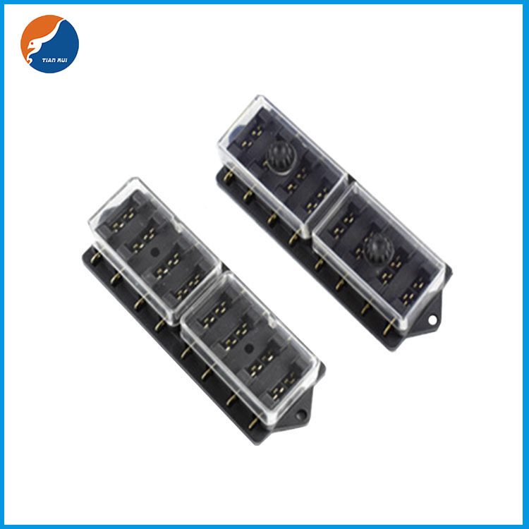8 in 8 out blade fuse holder