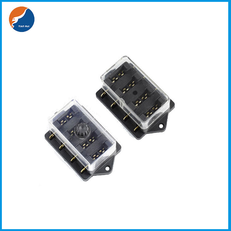 4 in 4 out blade fuse holder
