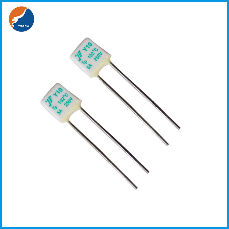 Square type 5A temperature fuse / thermal fuse