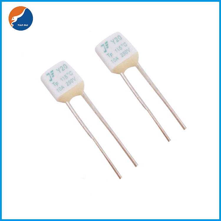 Square type 10A temperature fuse / thermal fuse