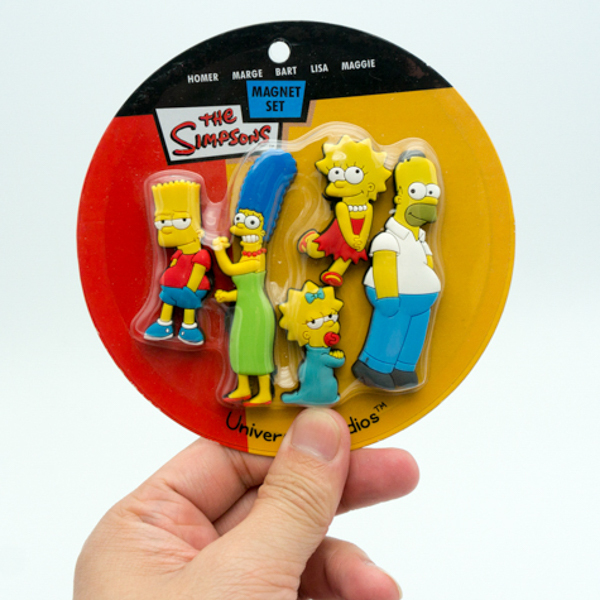 Simpson soft pvc fridge magnet with cartoon shaped