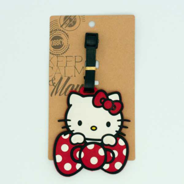 Hello Kitty Toy Plastic Luggage Tag with card