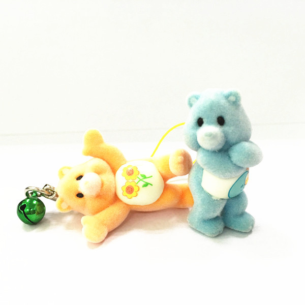 plastic flcoking care bear figurines