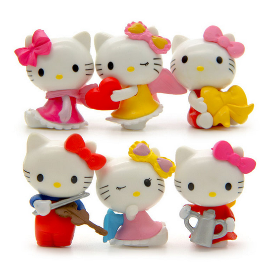 Collectible Plastic Hello Kitty Figurine Plastic Toys