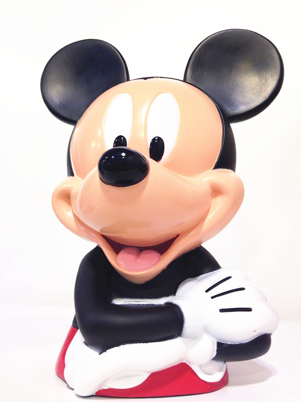 Plastic Mickey Mouse Money Box / Saving Box