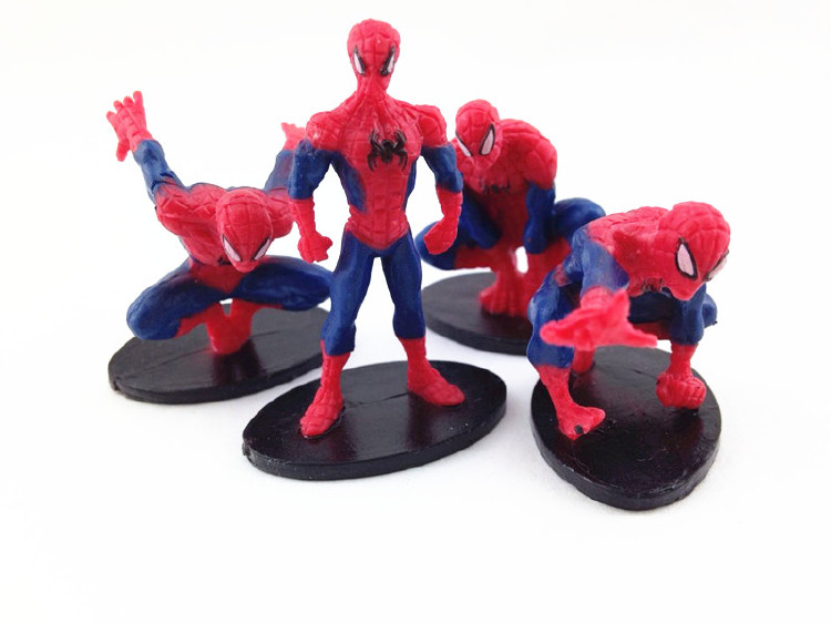 Plastic Mini Spiderman Figurine Toys