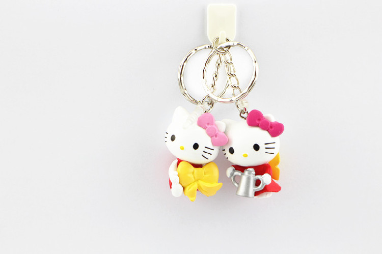 Plastic Hello Kitty Keychains