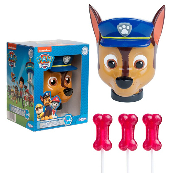 PAW PATROL COIN BANK WITH CANDY