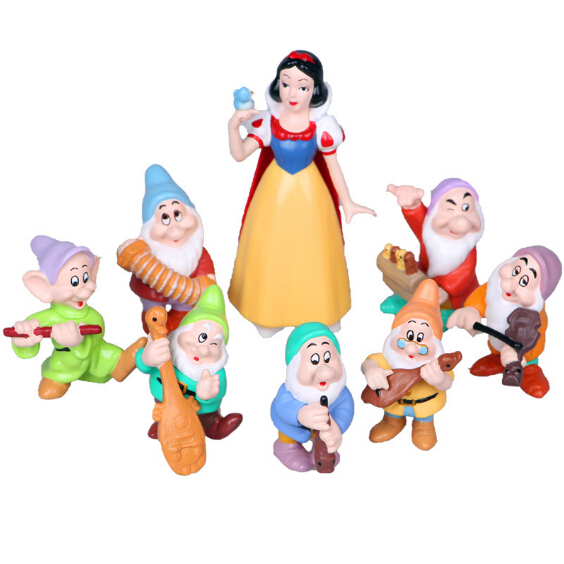 Snow White And Seven Dwarfs Pvc Action Figures