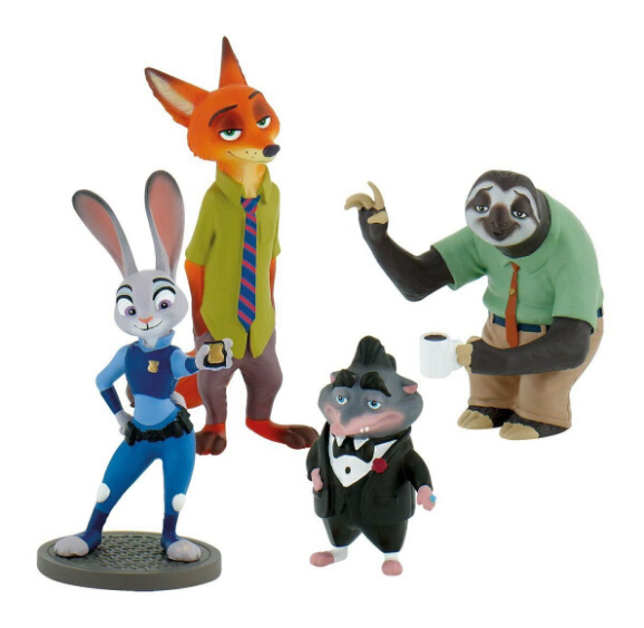 Zootopia Animal Toys Judy Rabbit PVC Figures