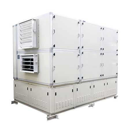 indoor exhaust air pre-cooling type air handling unit