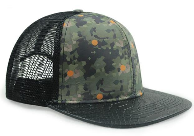 Fashion design 6 panel style trucker hat mesh hat factory