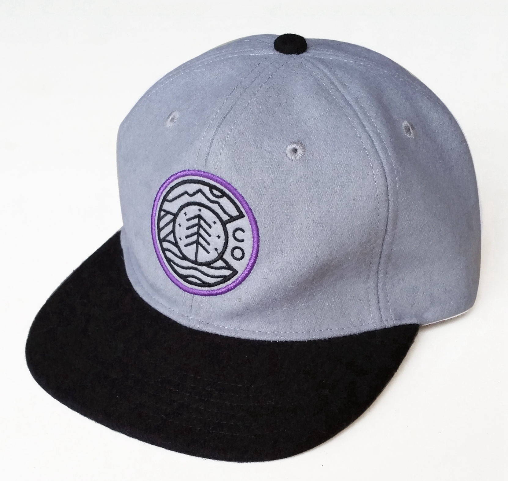 Custom Wool/Blend material unstructured snapback cap supplie