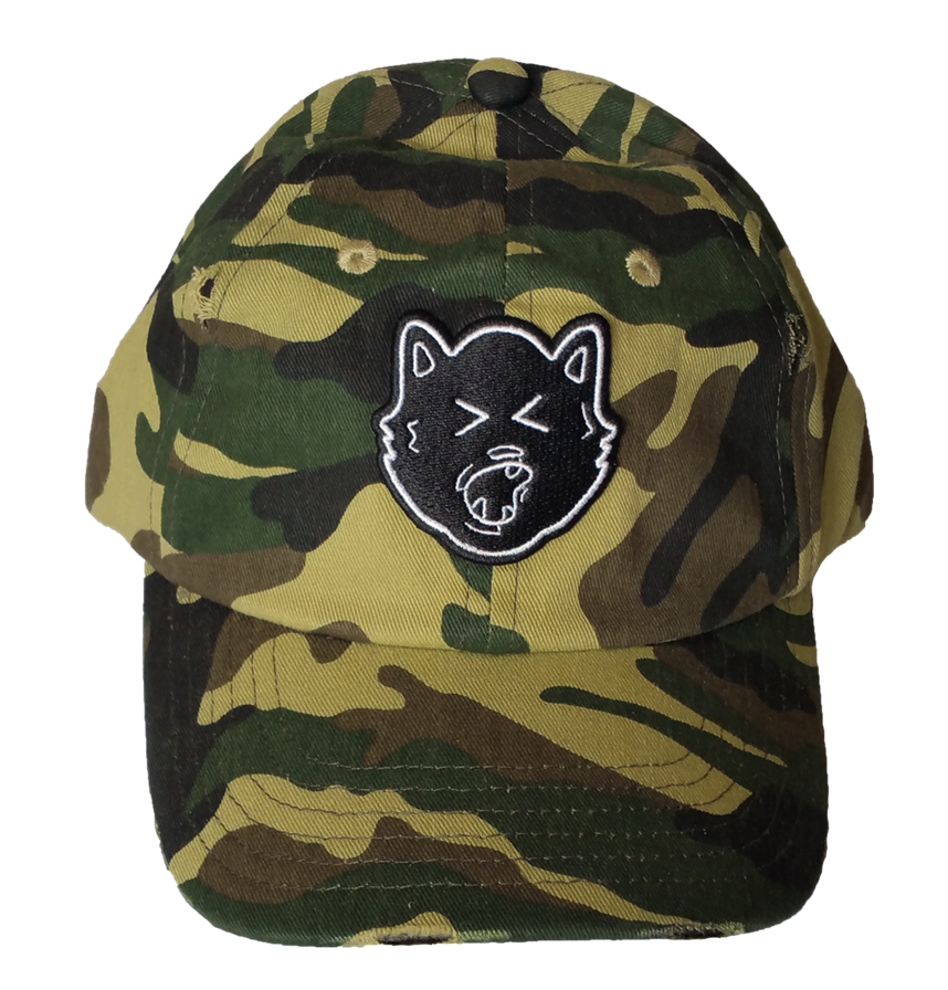 Custom dad hat style factory camo hat