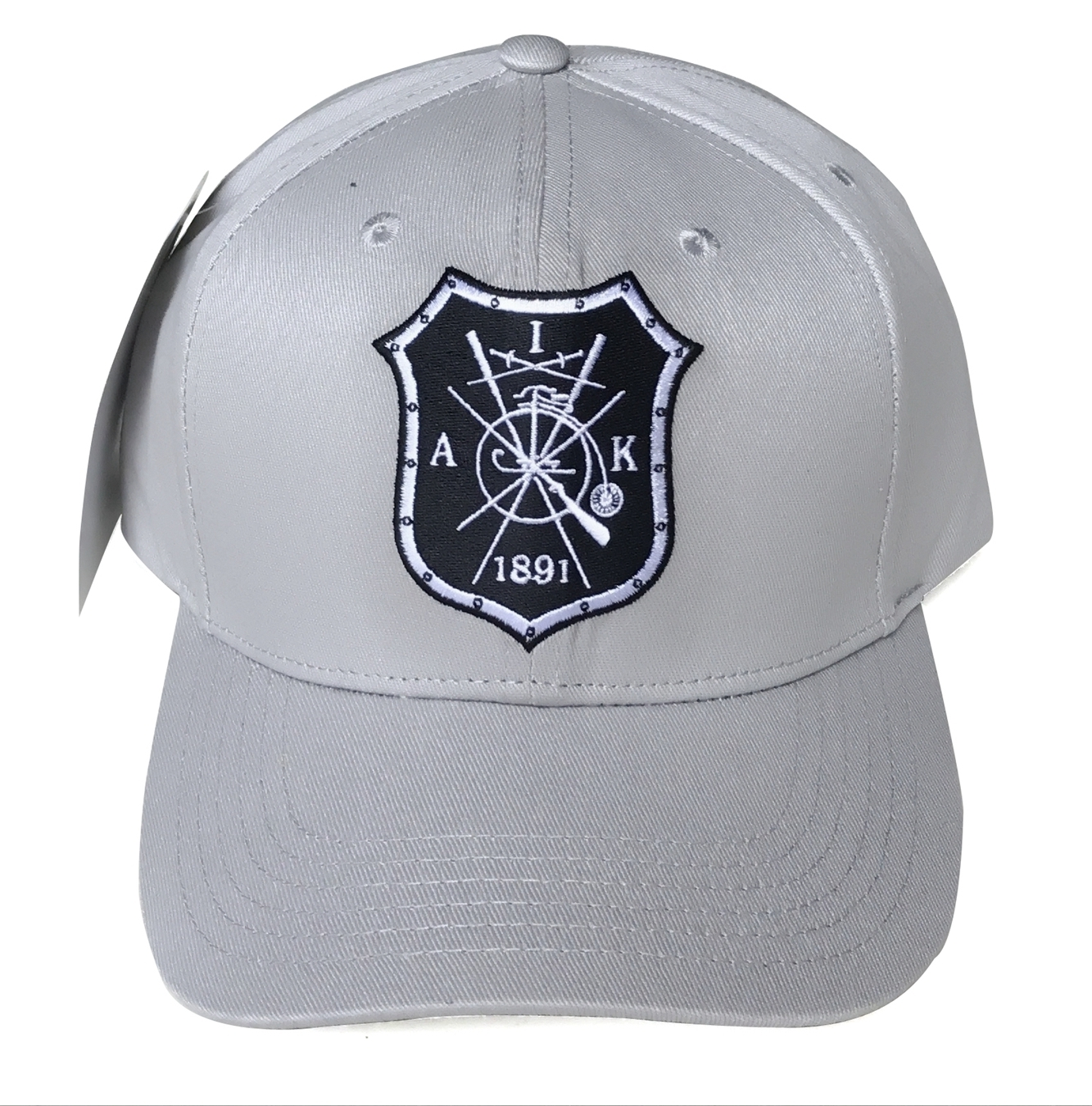 Custom grey cotton materail baseball cap supplier