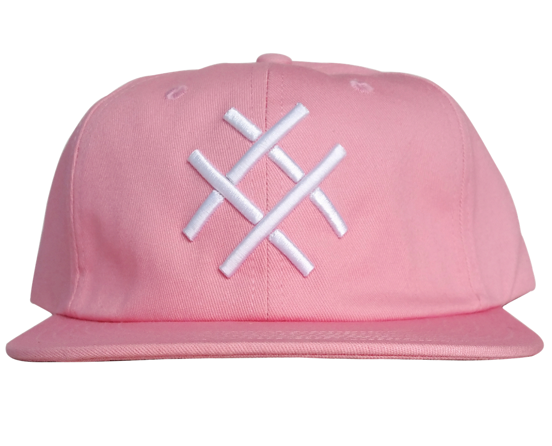 Custom design 6 panel pink colour snapback cap
