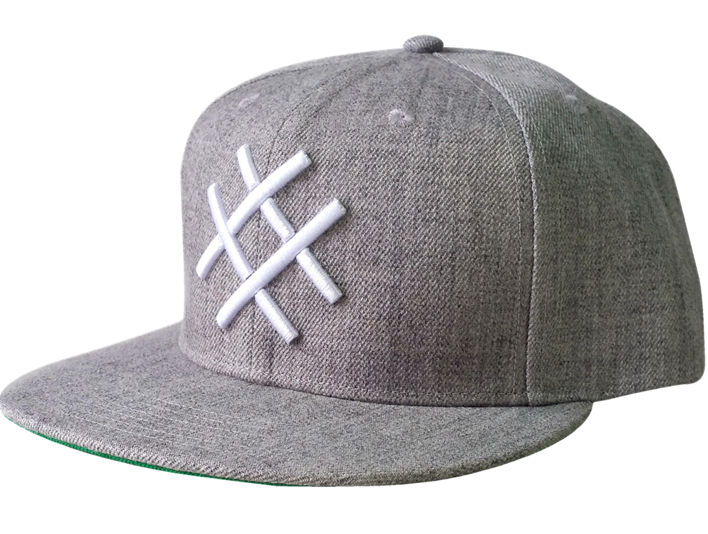 Custom wool/acrylic material snapback cap with 3D embroidery