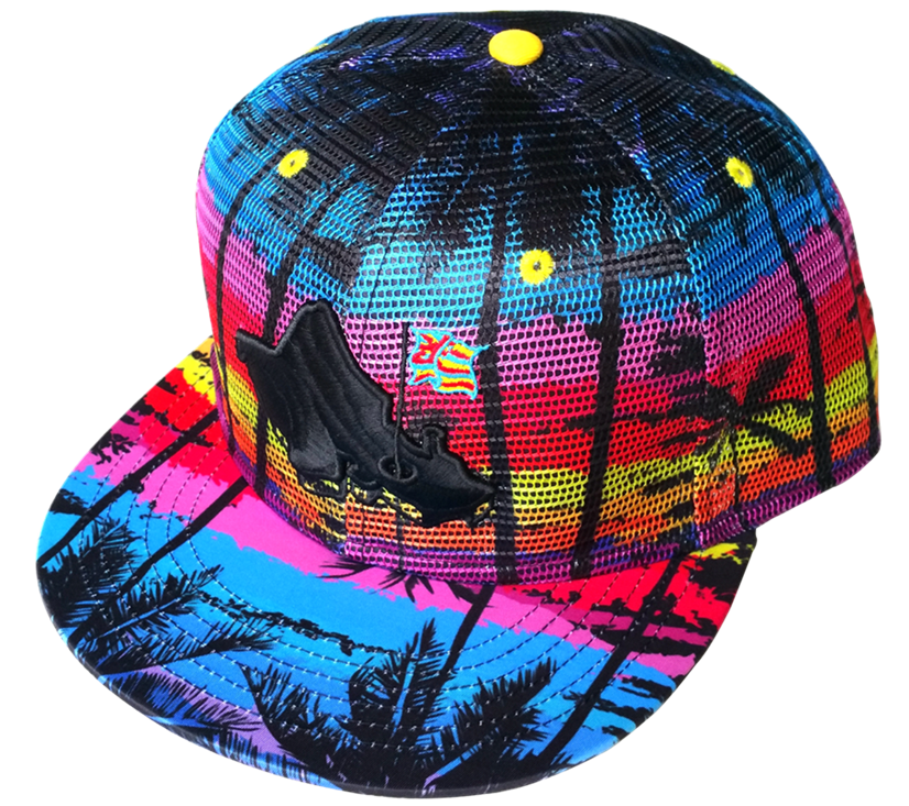 Custom printing pattern snapback cap with embroidery logo