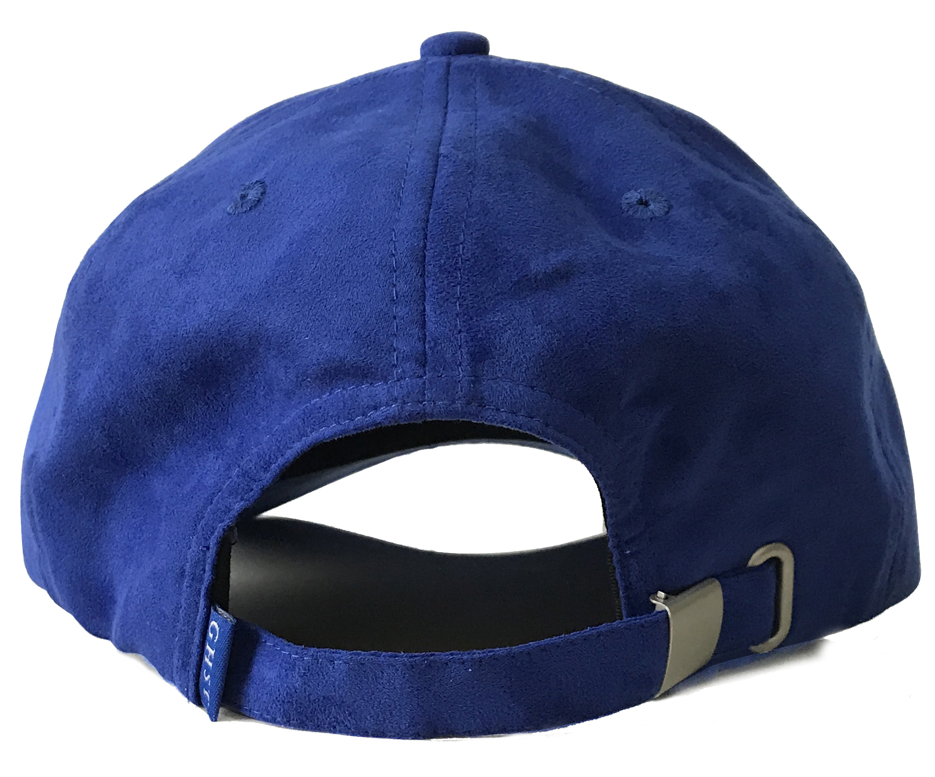 Custom blue Suede material baseball cap factory