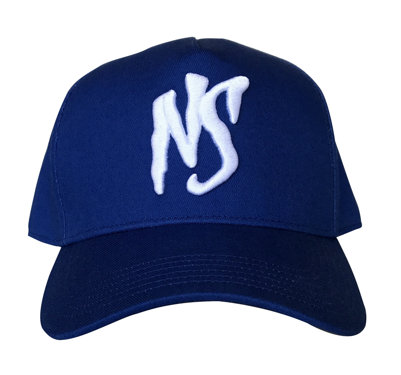 Custom 5 panel blue cotton material baseball cap supplier