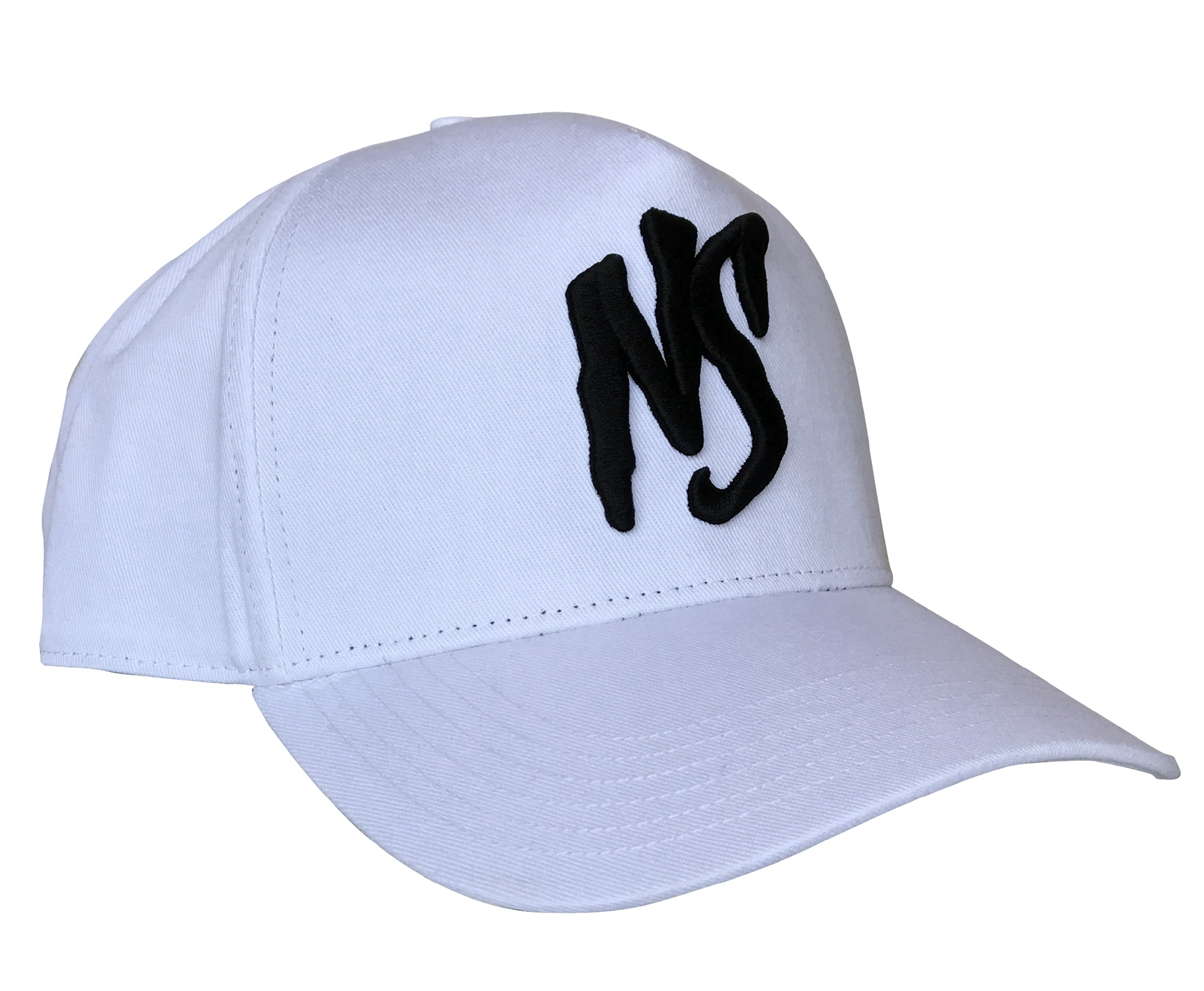 Custom 5 panel white cotton material baseball cap factory