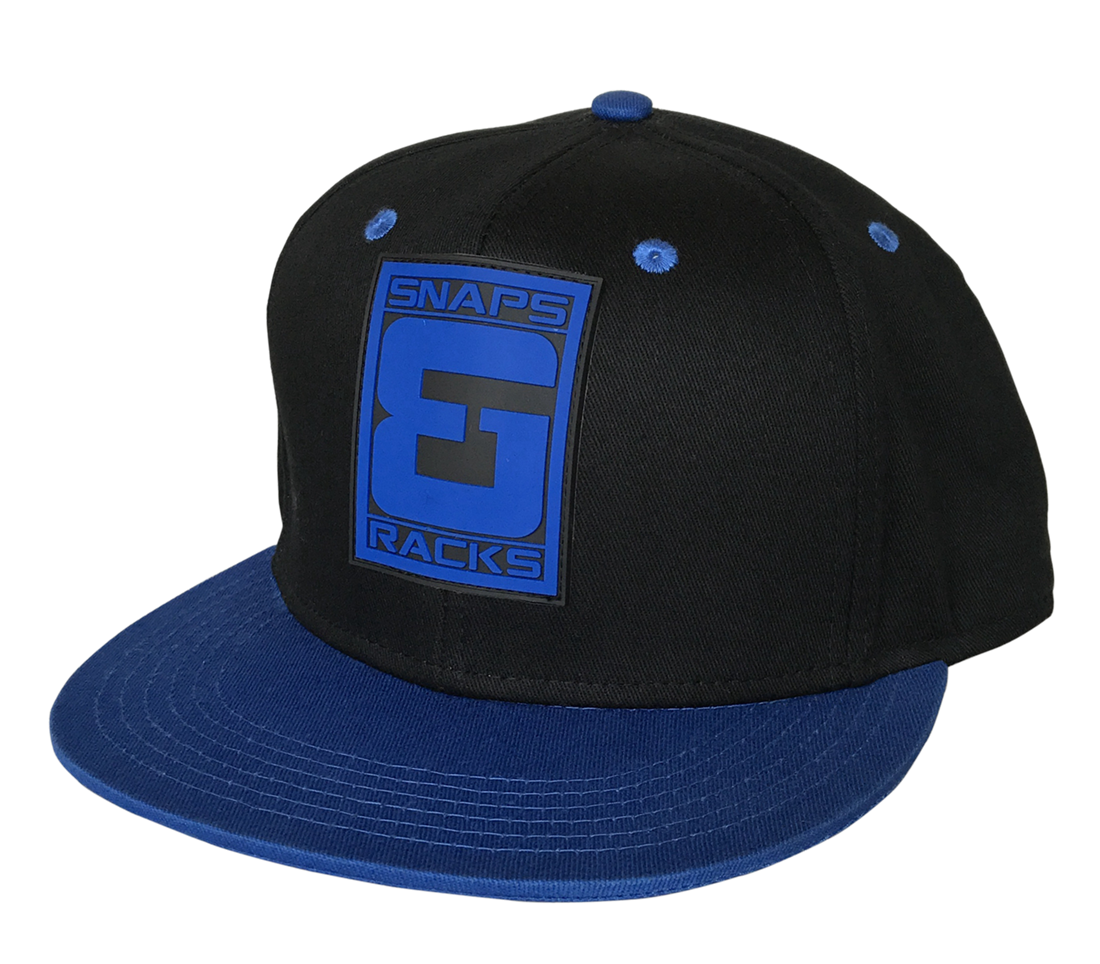 Custom blue leather rubber snapback cap factory
