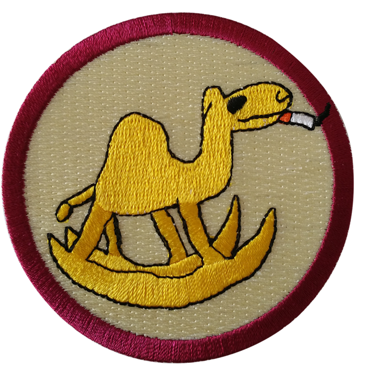 Woven patch embroidery